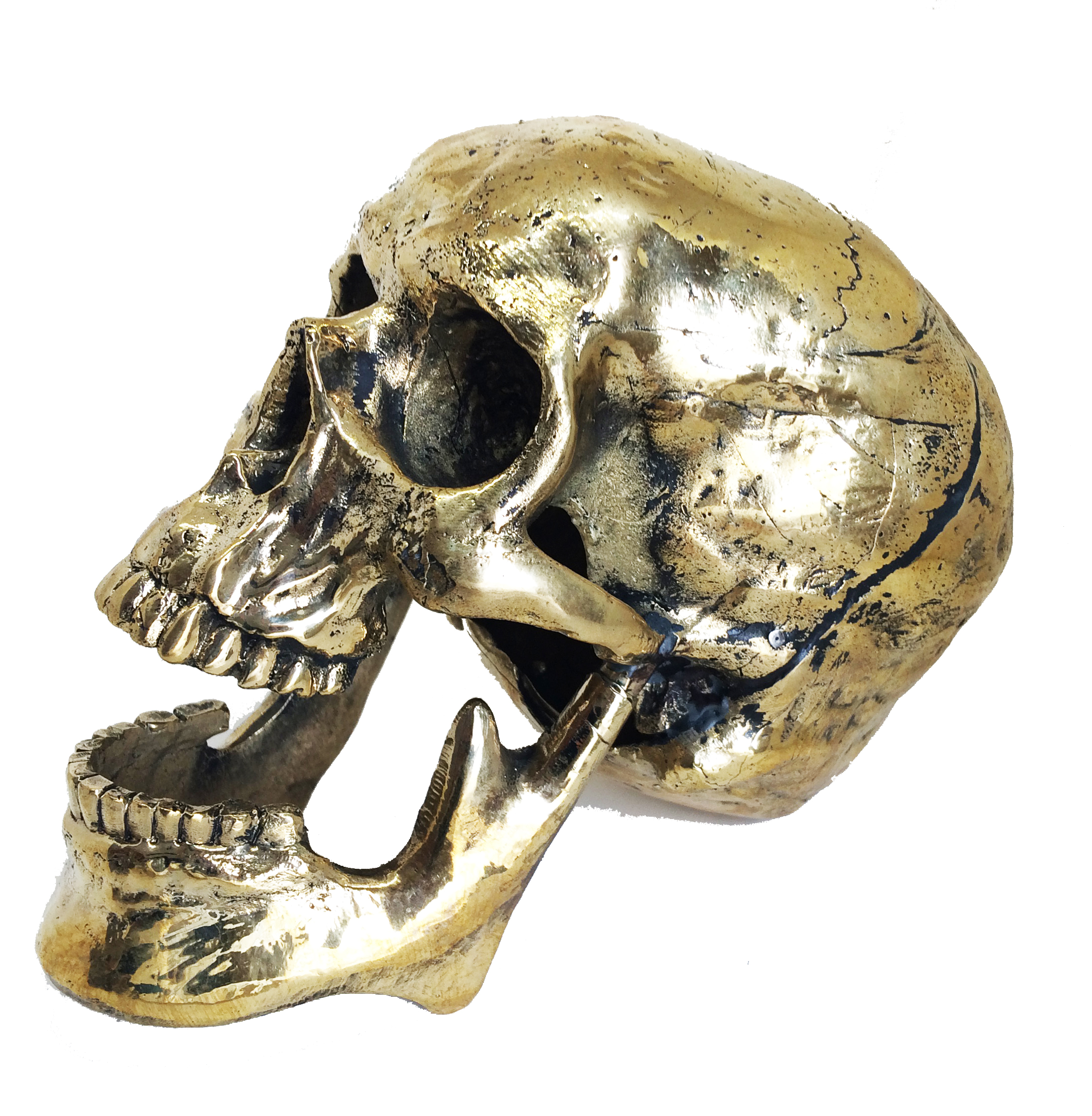 Tabletop Accent Skull - Bronze - Made in USA - stands 4.75