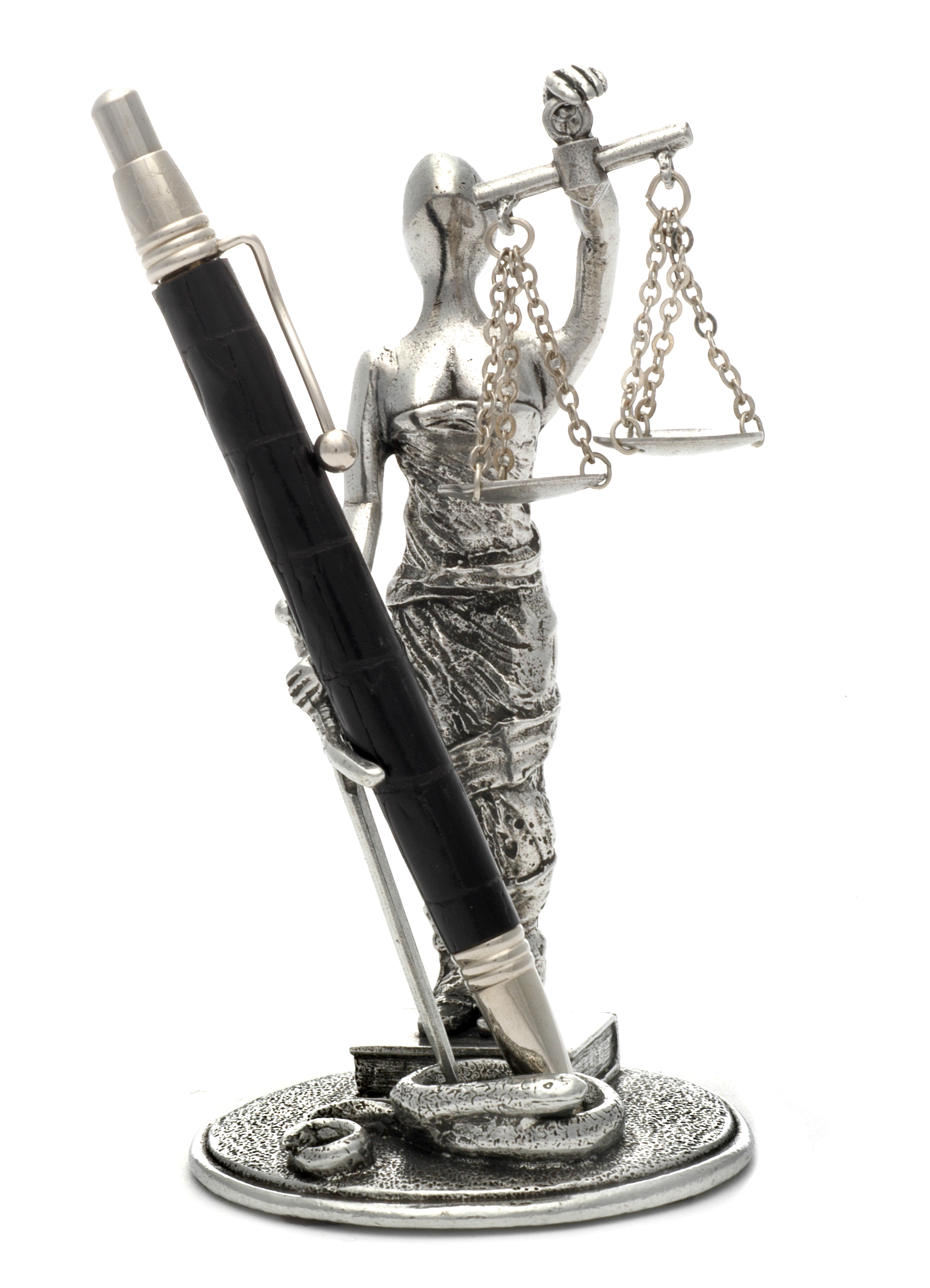 PH70 Scales of Justice - Pewter.4 1/2
