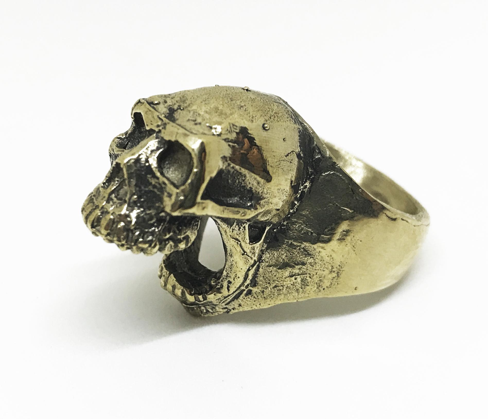 Biting Skull Ring Bottle Opener - Bronze. Sizes 7.5-10.5 MSRP $75. Sizes 11 & up MSRP $85