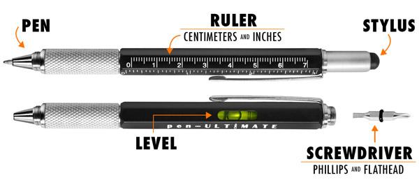 pen-Ultimate tool pen - pen 71 - A 7 in 1 metal pen. MSRP $25