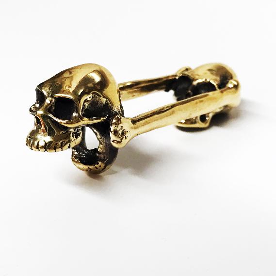 BO 01 - Biting Skull - A Bronze Bottle Opener - MSRP $55