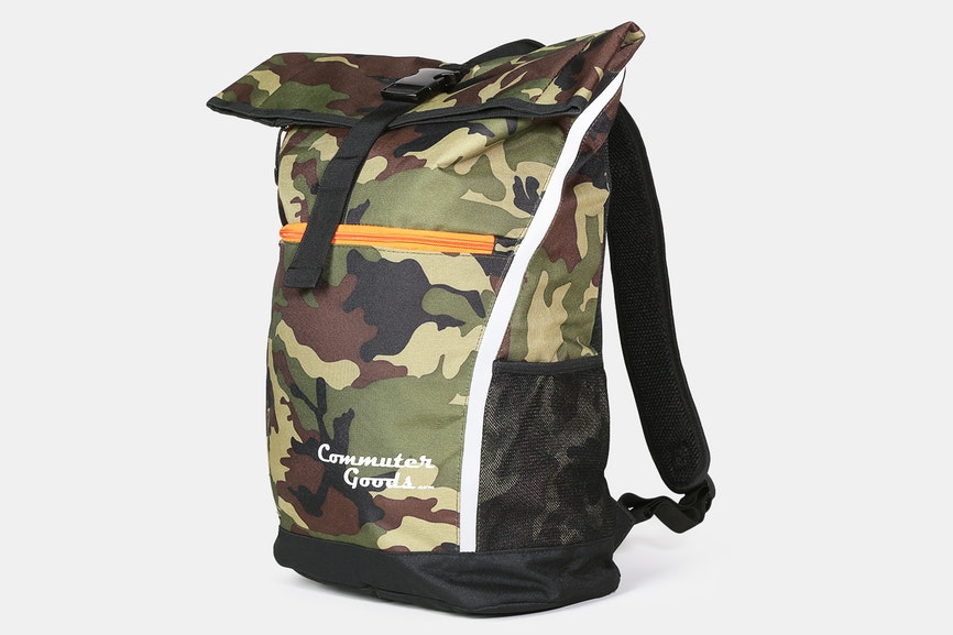 Commuter Goods Rolltop - The roll top backpack. Comes in camo or dark gray. MSRP $45