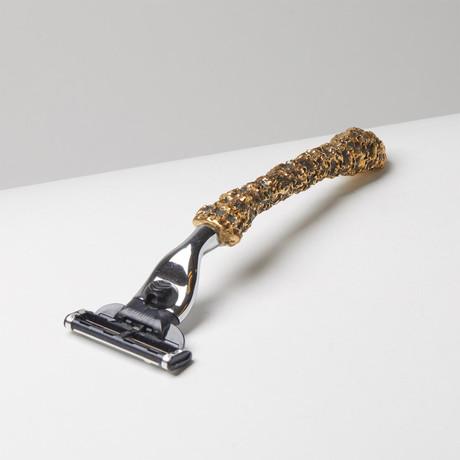 Pendora Skull Razor - Bronze Razor Handle. Fits a Mach 3 style razor head.MSRP $185