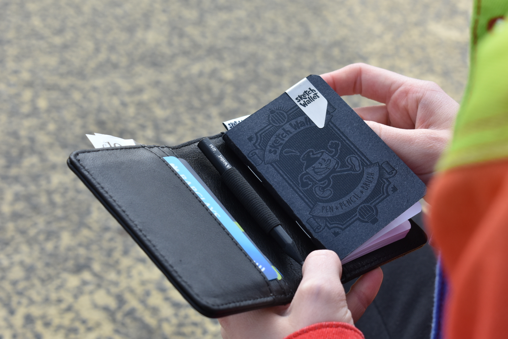 The Sketch Wallet. Cash, Cards & Creativity all in 1 wallet.