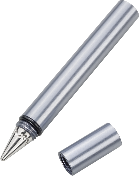 The Pocket Pen - Aluminum body in either black or silver. Screw on Cap.MSRP $44.00