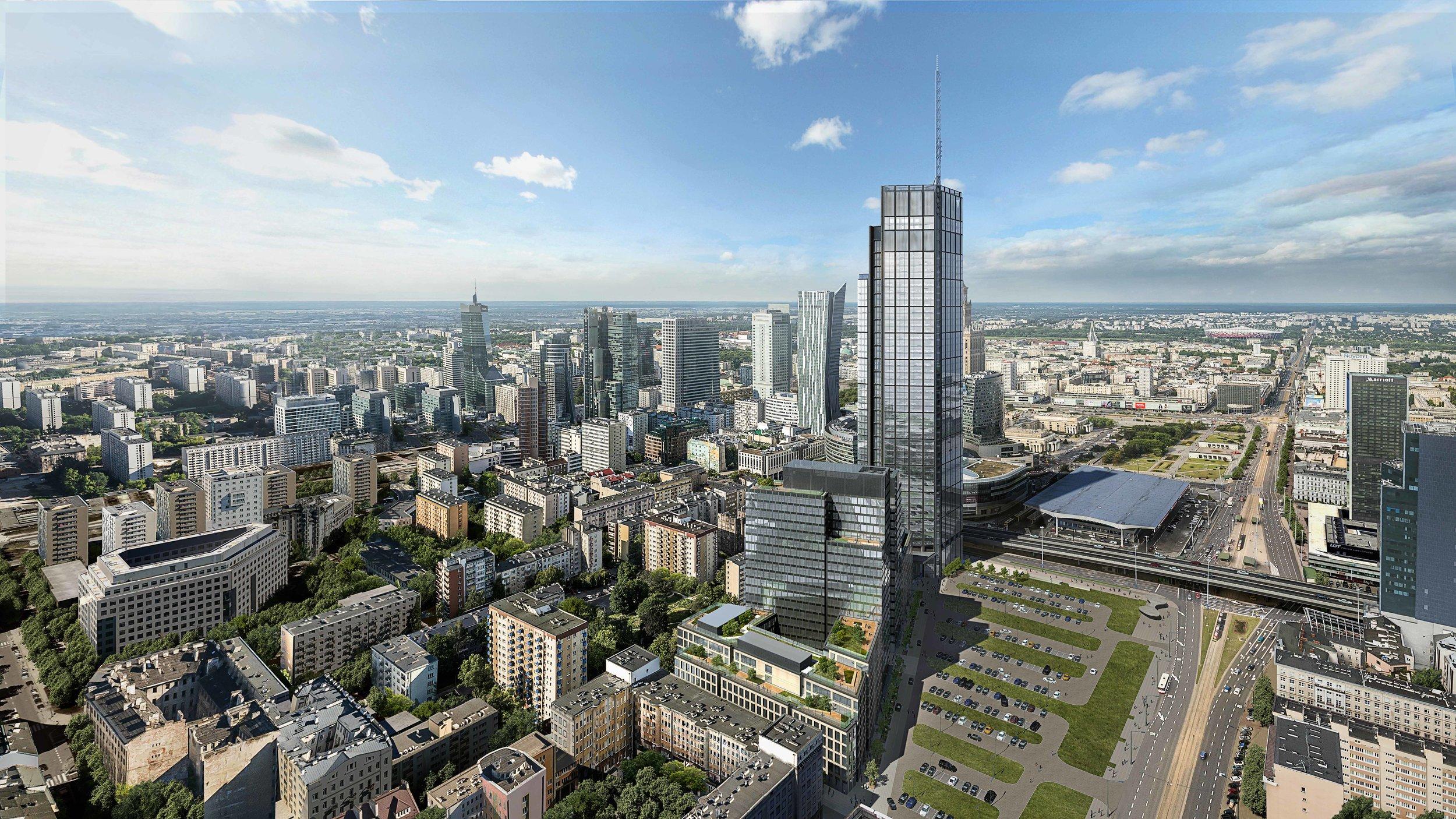 Varso Tower, Warsaw Poland  Architect: Foster + Partners  Developer: HB Reavis
