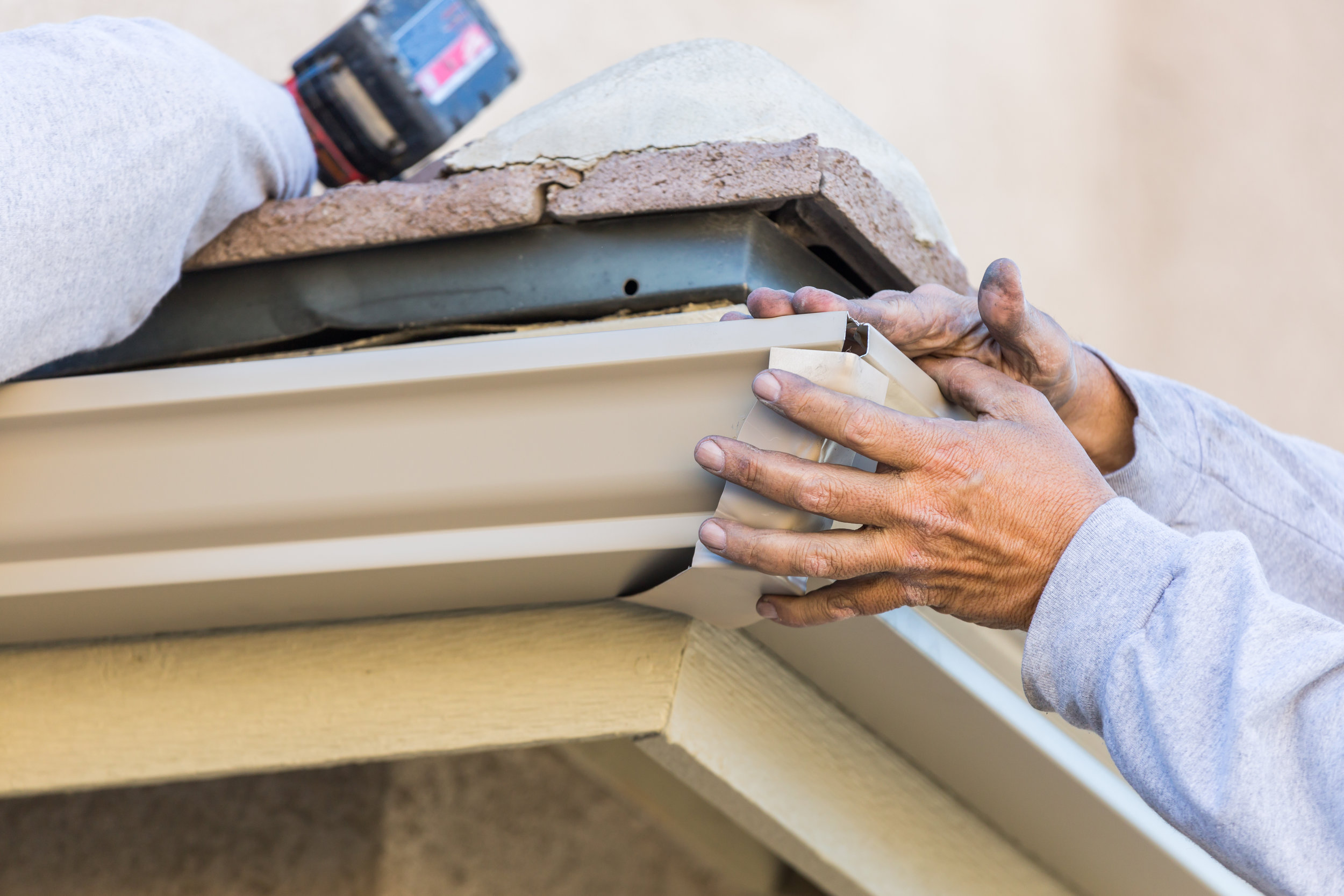 RESIDENTIAL AND COMMERCIAL SERVICES    - New System Installation    - Gutter Guards    - Gutter Replacement