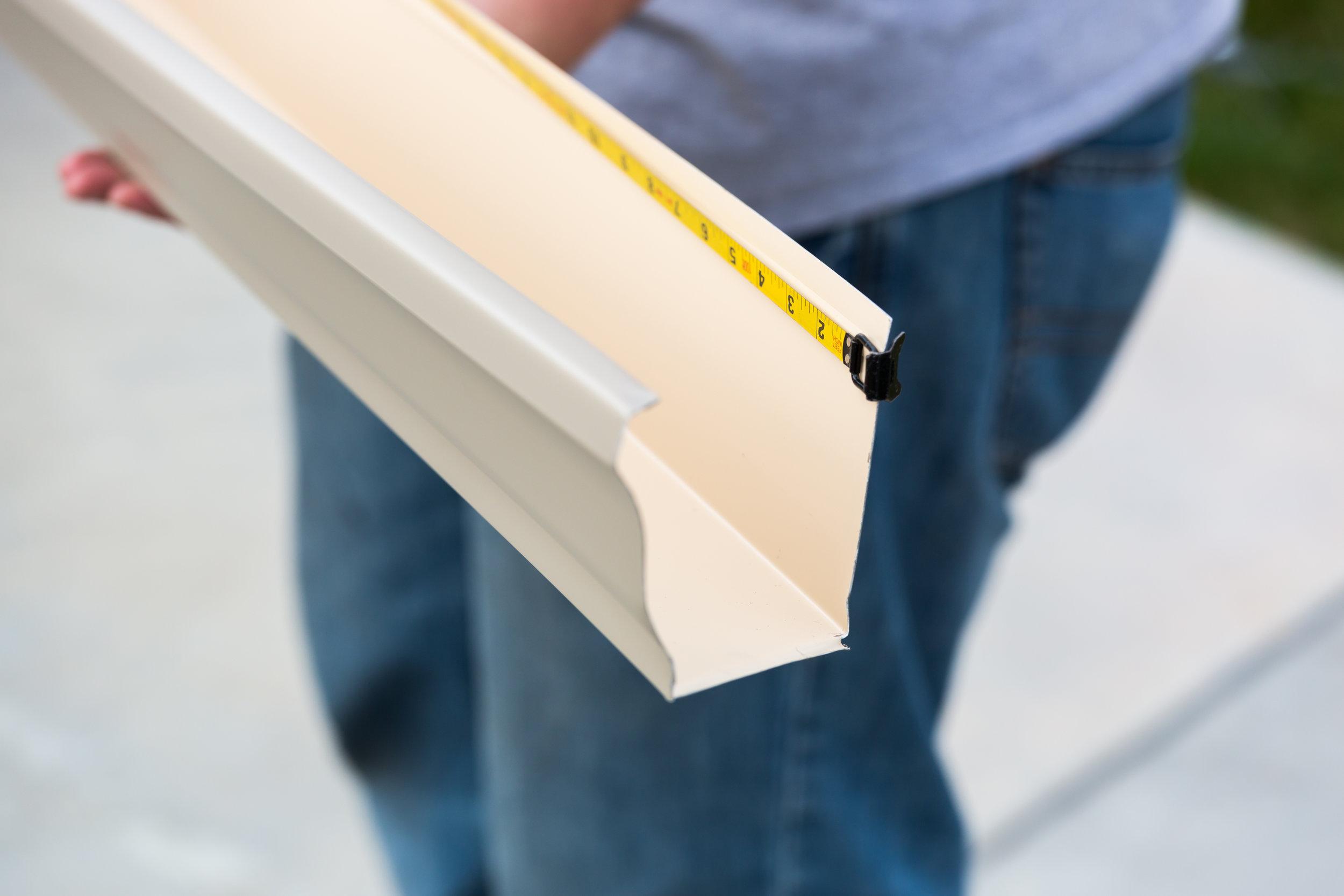 PRODUCTS    - Aluminum Seamless Gutters    - Hidden Hangers    - Gutter Guards