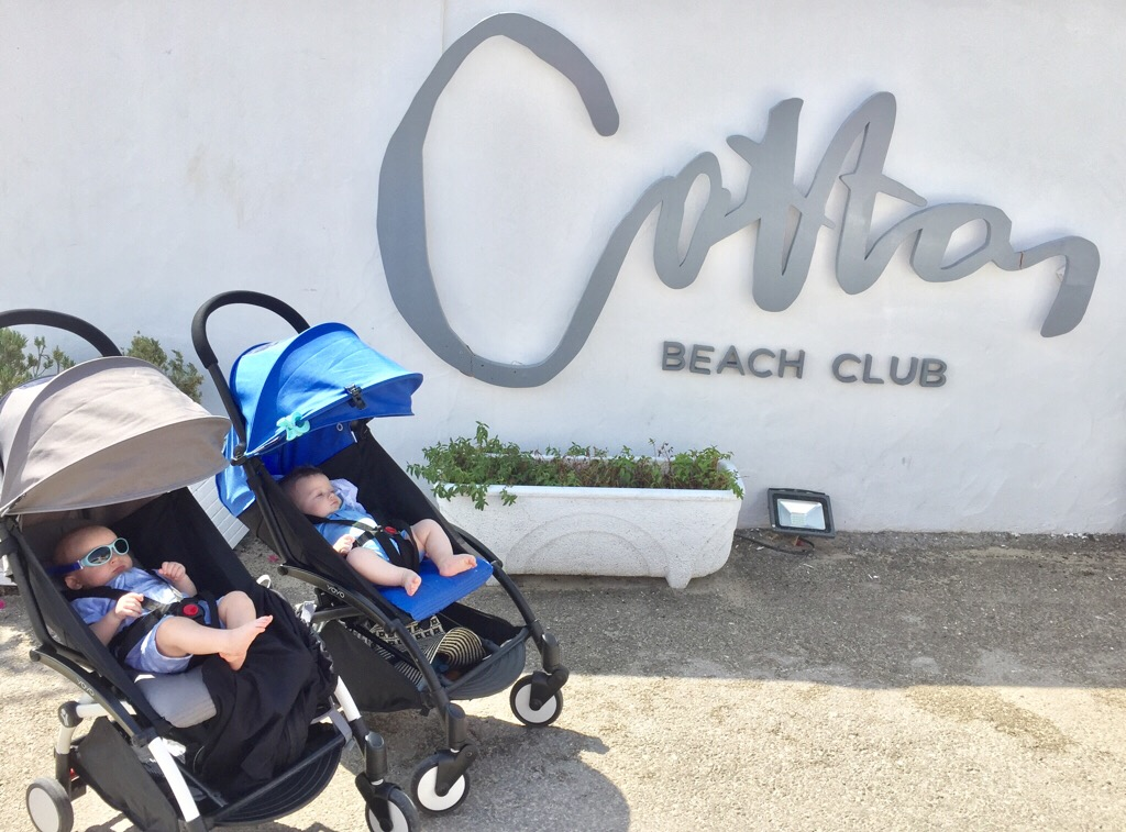 The boys hanging out at ibizas exclusive Cotton Club
