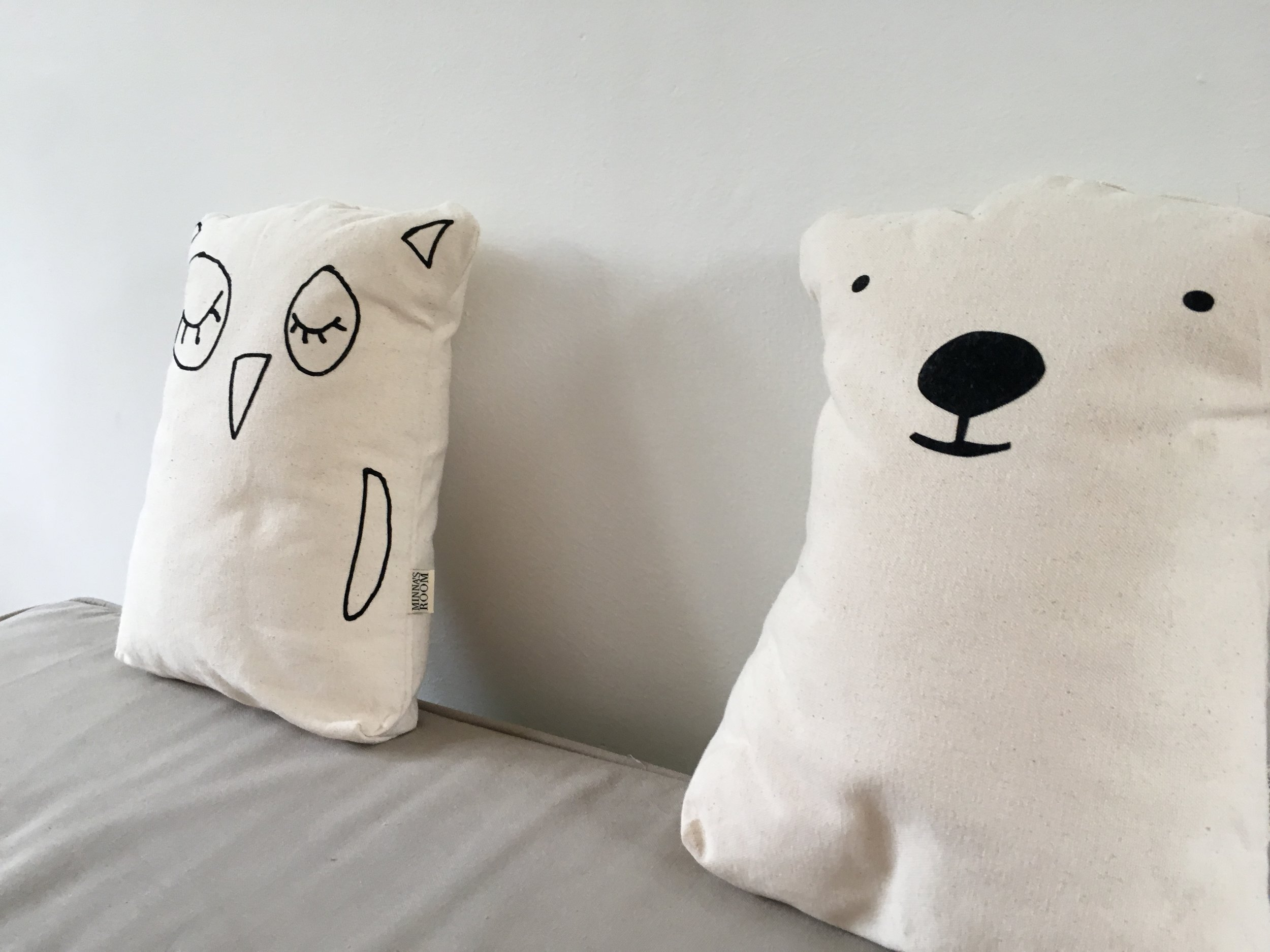"""To add to the Scandinavian feel, we found these fabulous """"animal cushions """" which you can get  here"""