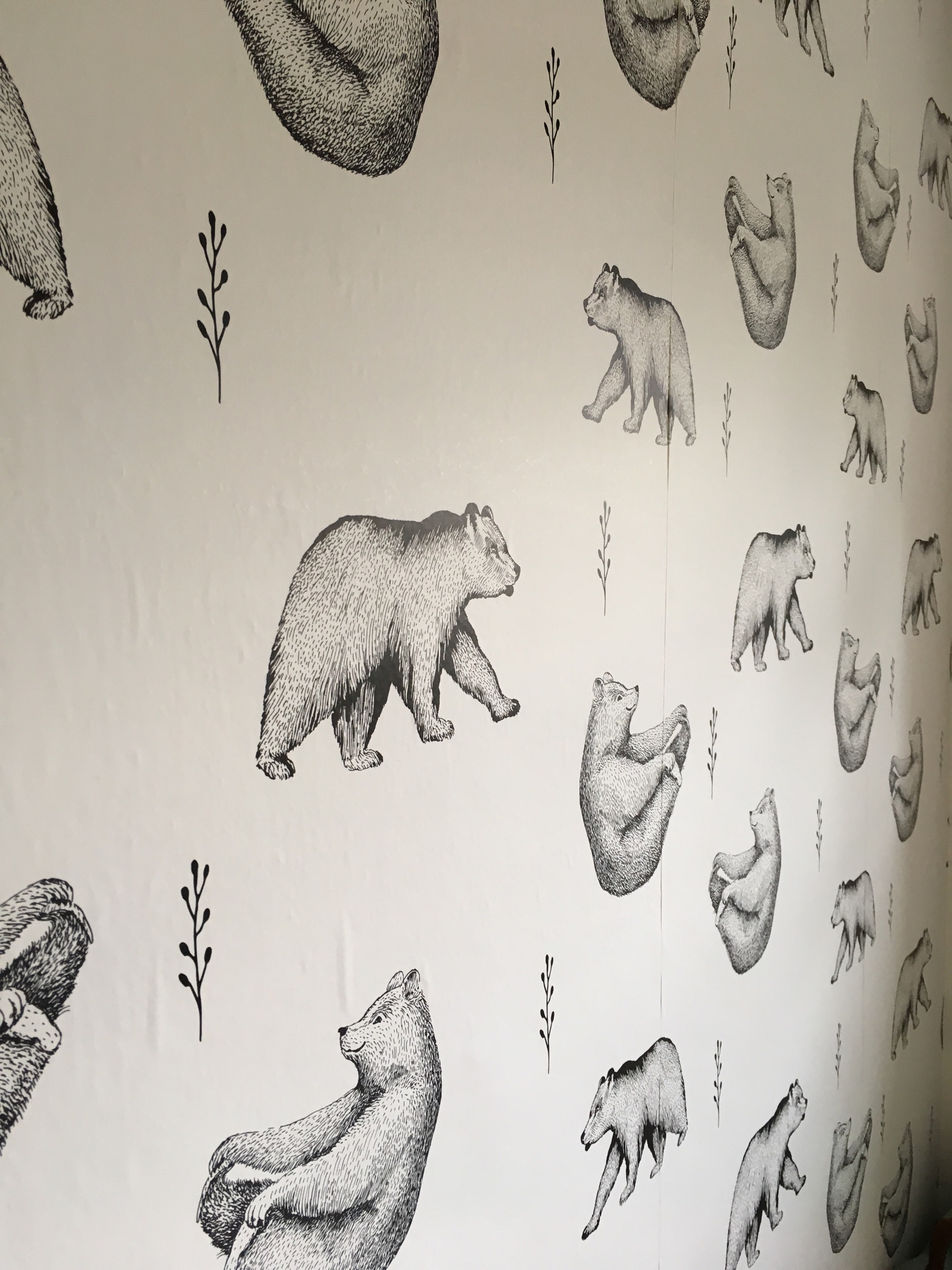 Self adhesive wallpaper? Count me in.  Check out this wonderful idea  here