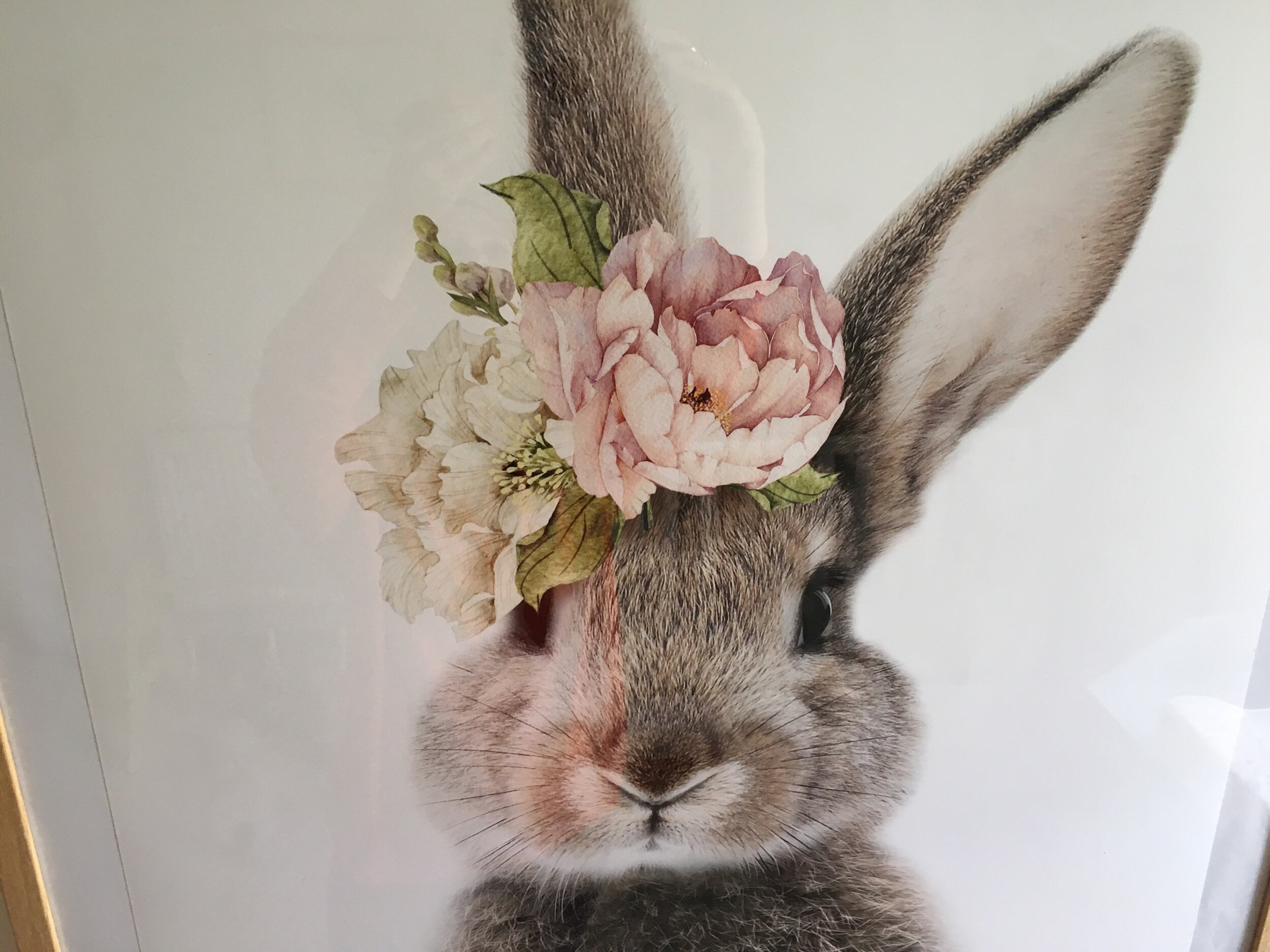 Who couldn't fall in love with this incredible bunny print from Etsy? Not only is it fabulously feminine but you can also buy it as a set (the other image is of the bunny's cotton tail!)