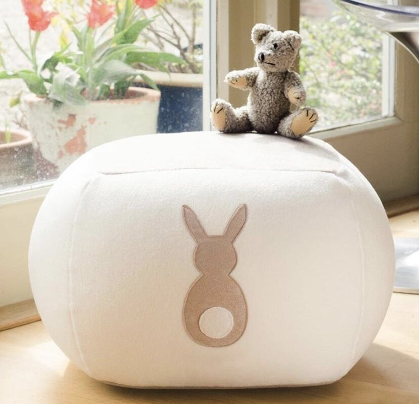 This gorgeous bunny beanbag is perfect for any nursery with a bunny rabbit theme. Not only is it stylish and aesthetically beautiful, but it's also incredibly comfortable to sit on whilst reading your little one a bedtime story! You can buy it  here