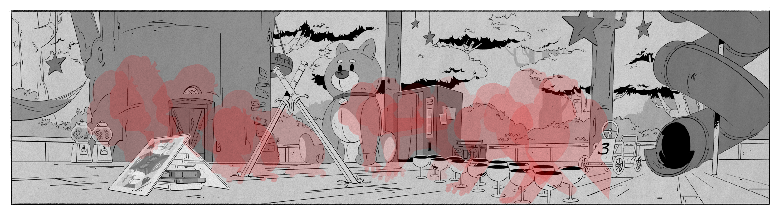 From Episode 8,  Treasure of the Found Lamp!  One of my favorite scenes in any DuckTales episode, ever: Doofus with tall roller skates.
