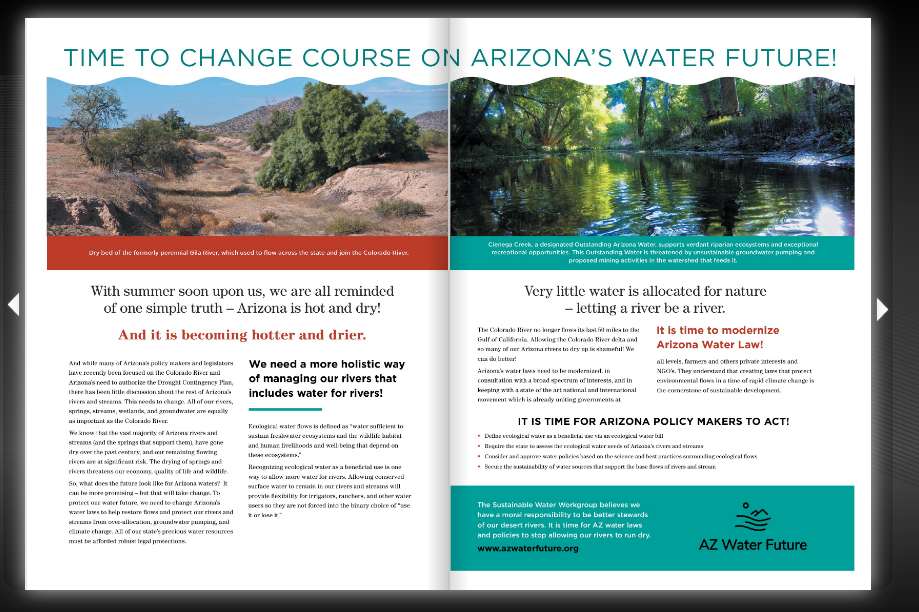 The Sustainable Water Workgroup's Ad in the Arizona Capitol Times' April 26, 2019, Volume 120, Issue 17. Focus on Water pp 9-24.