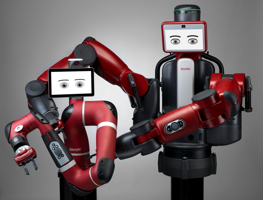 The robots Sawyer and Baxter from Rethink Robotics
