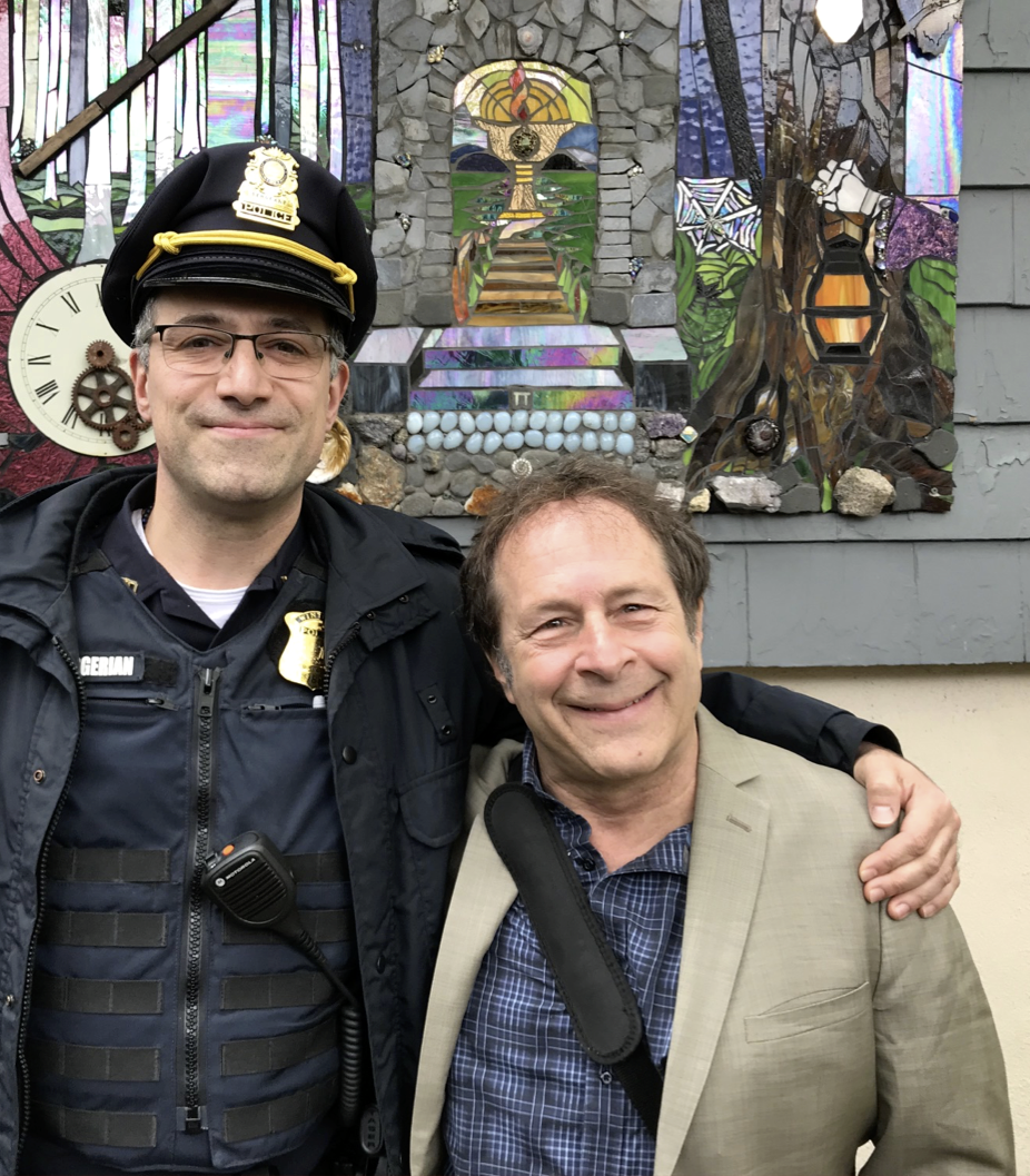 Rick Doblin (right) embraces a new ally in his battle against PTSD