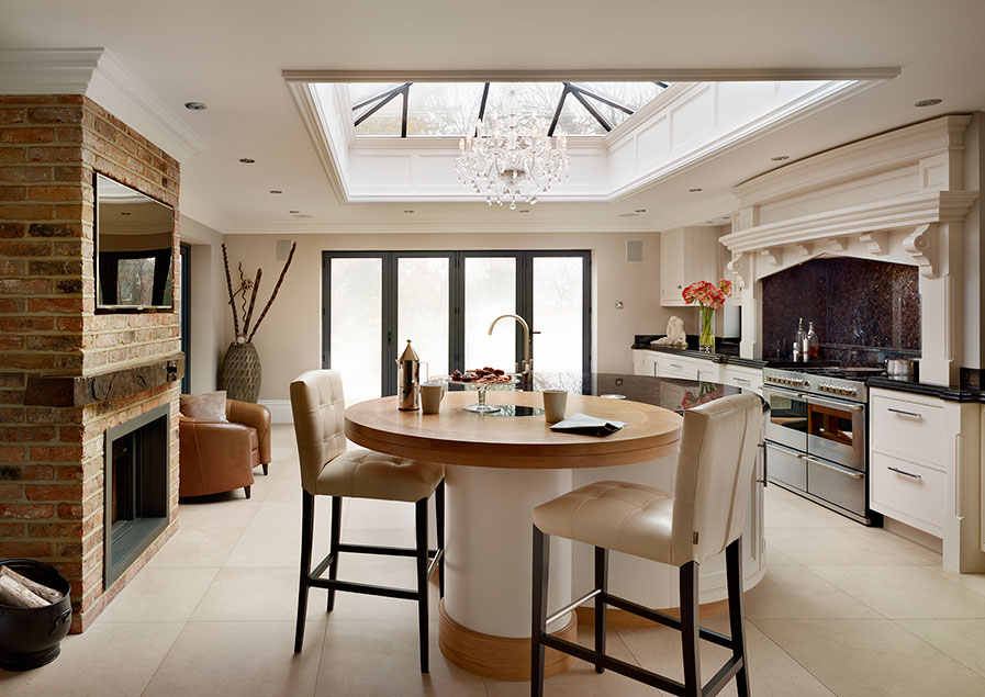 include dedicated social areas in your kitchen design for year round enjoyment.