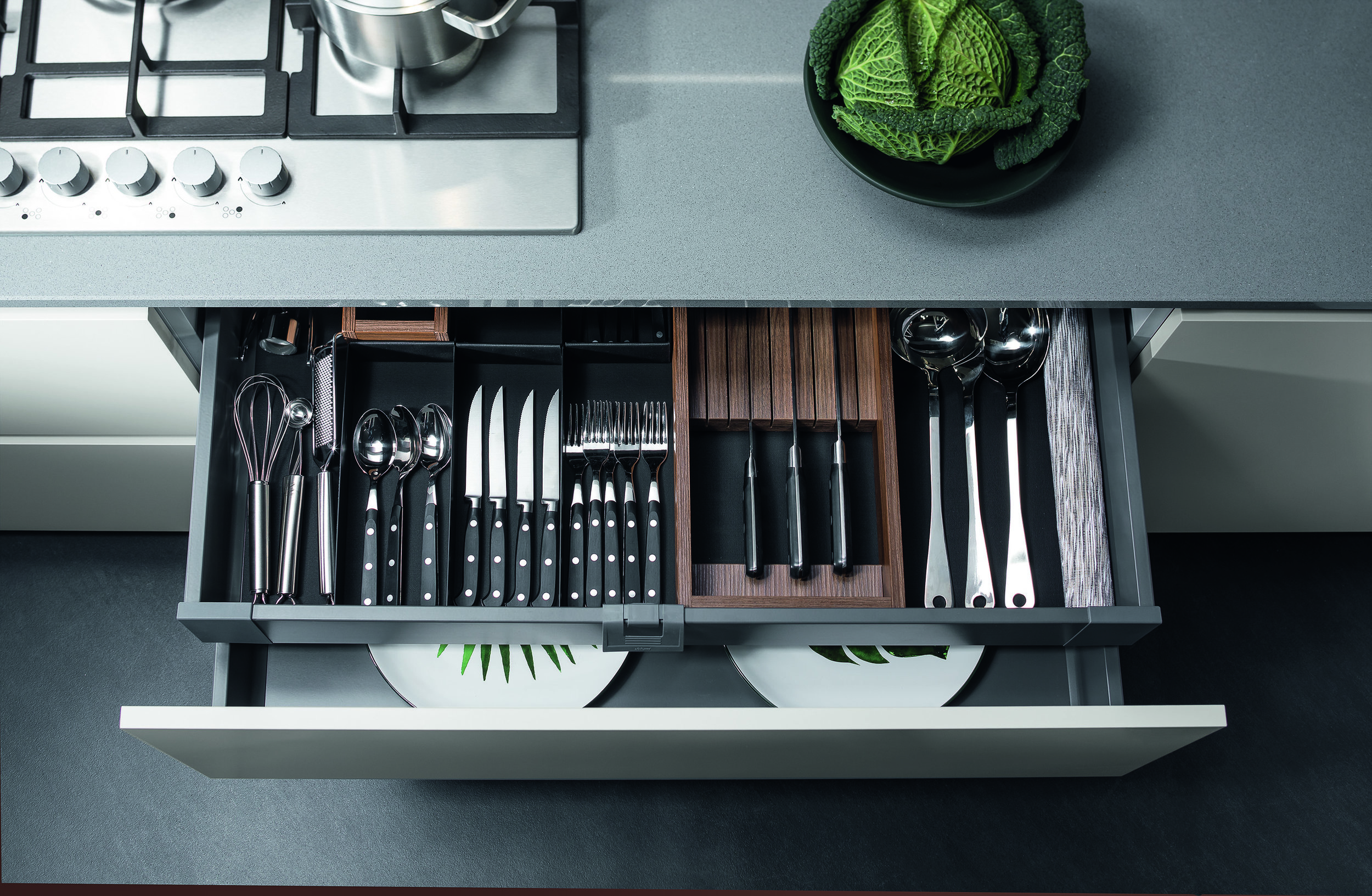 a home for every utensil and item of cutlery…