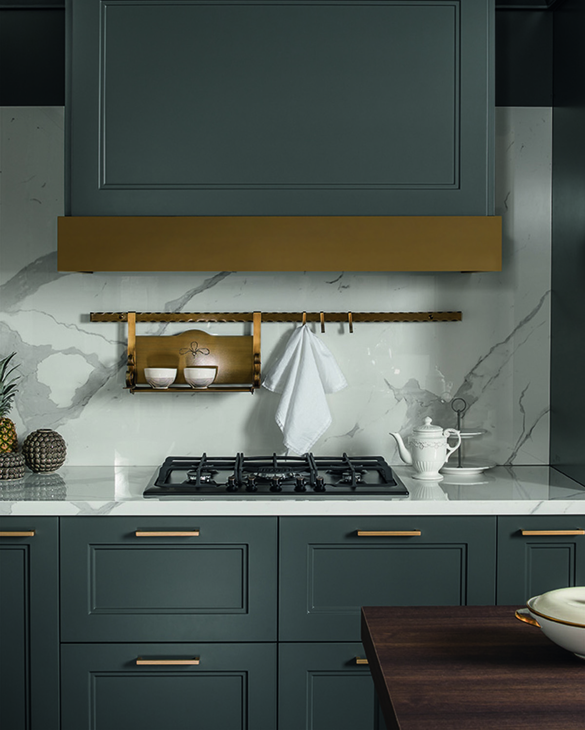 brass, marble and grey - a truly sumptuous colour combination and currently on trend!