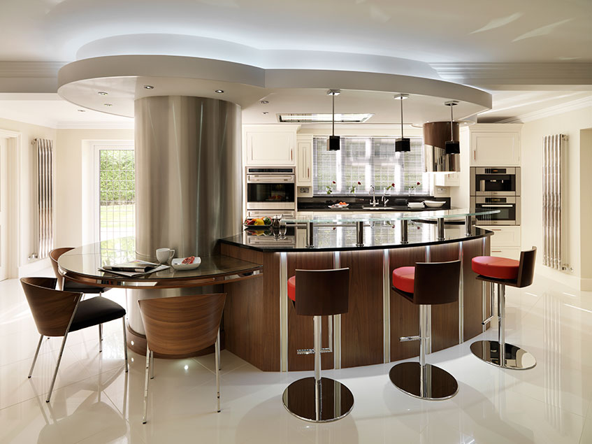 For a kitchen that epitomises style, combine a dedicated dining, casual bar area and preparation in your central island