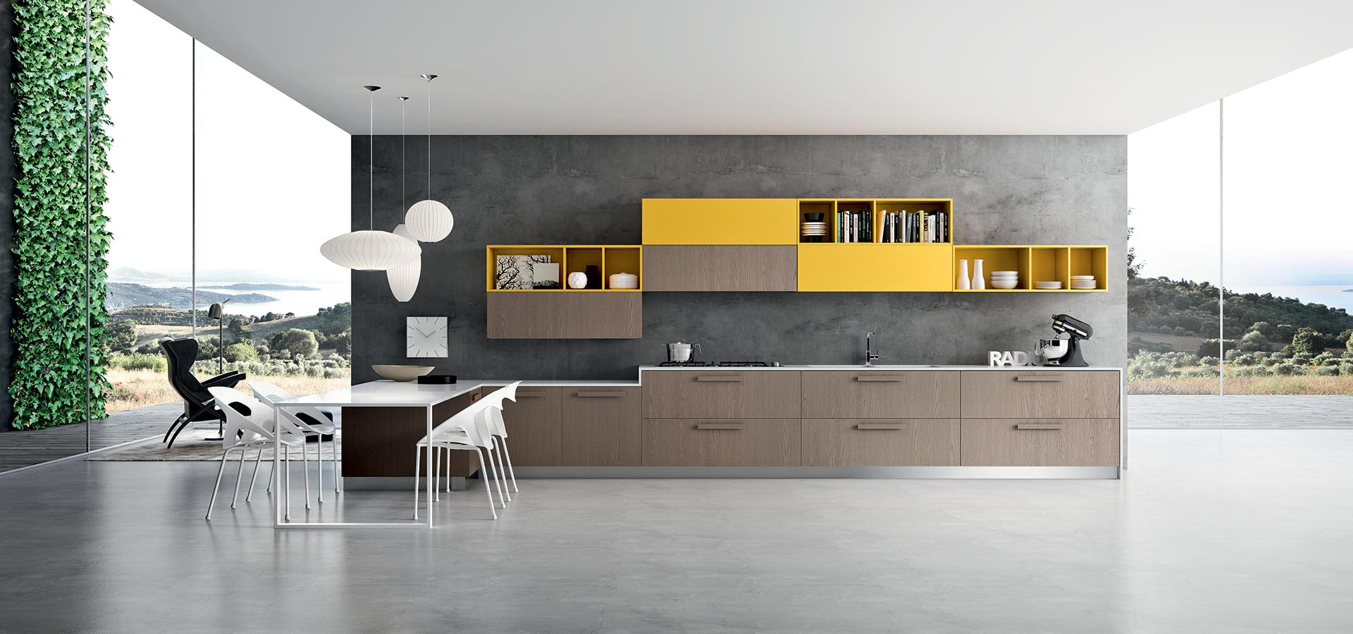 yellow as an accent colour should be sparingly used for maximum visual effect