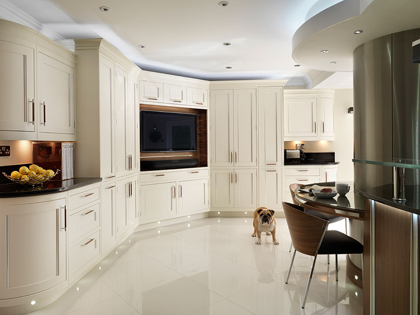 Combine state of the art features into a more traditionally styled kitchen to achieve 21st century looks.