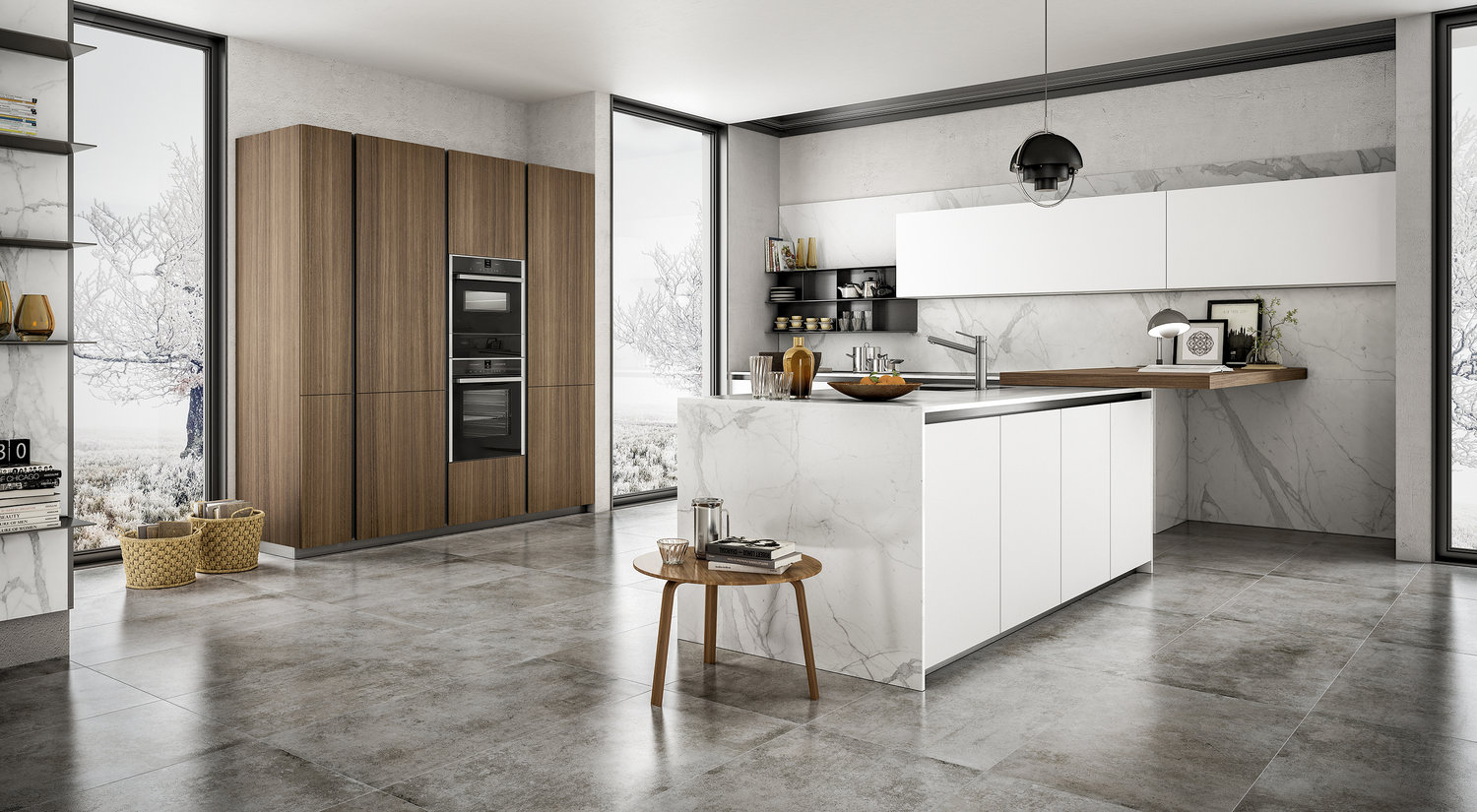 a beautiful combination of juxtaposed textures - a true trademark of italian style.