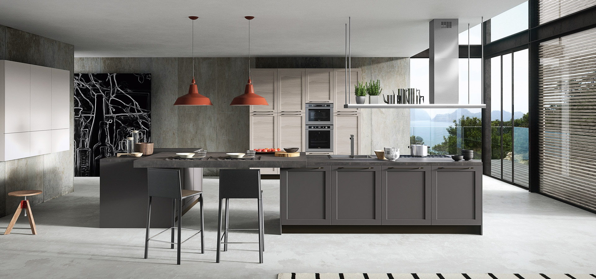 nowadays, mixing door finishes is very much part of a shaker styled kitchen…