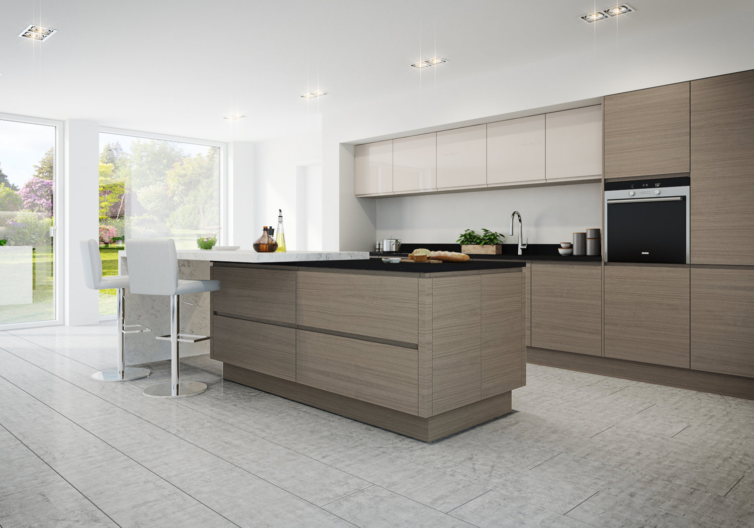sophisticated and stylish, a malmo kitchen offers practical storage with contemporary elegance.