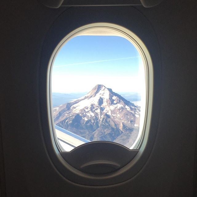 great view of Mt Hood on our way in to Portland yesterday!
