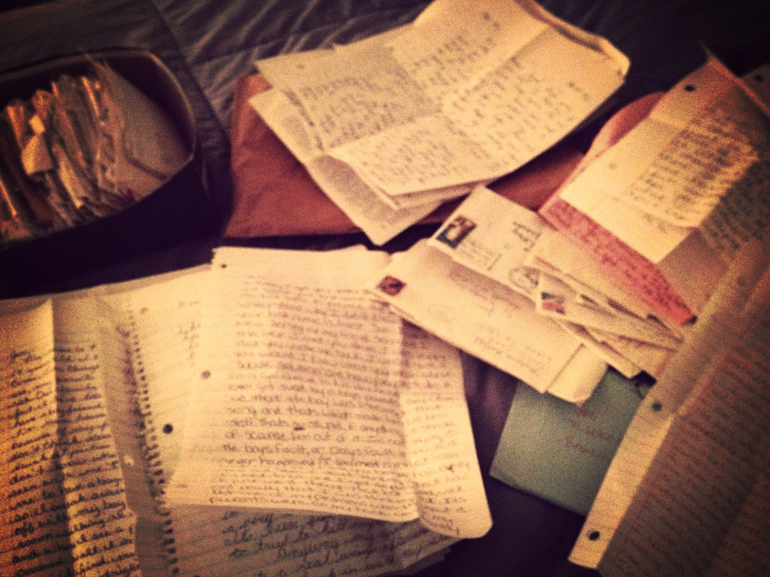 countless letters from suicidal teens (remind me to tell you the story about an angsty letter i wrote that was published in Rock Scene magazine in the late 80s).