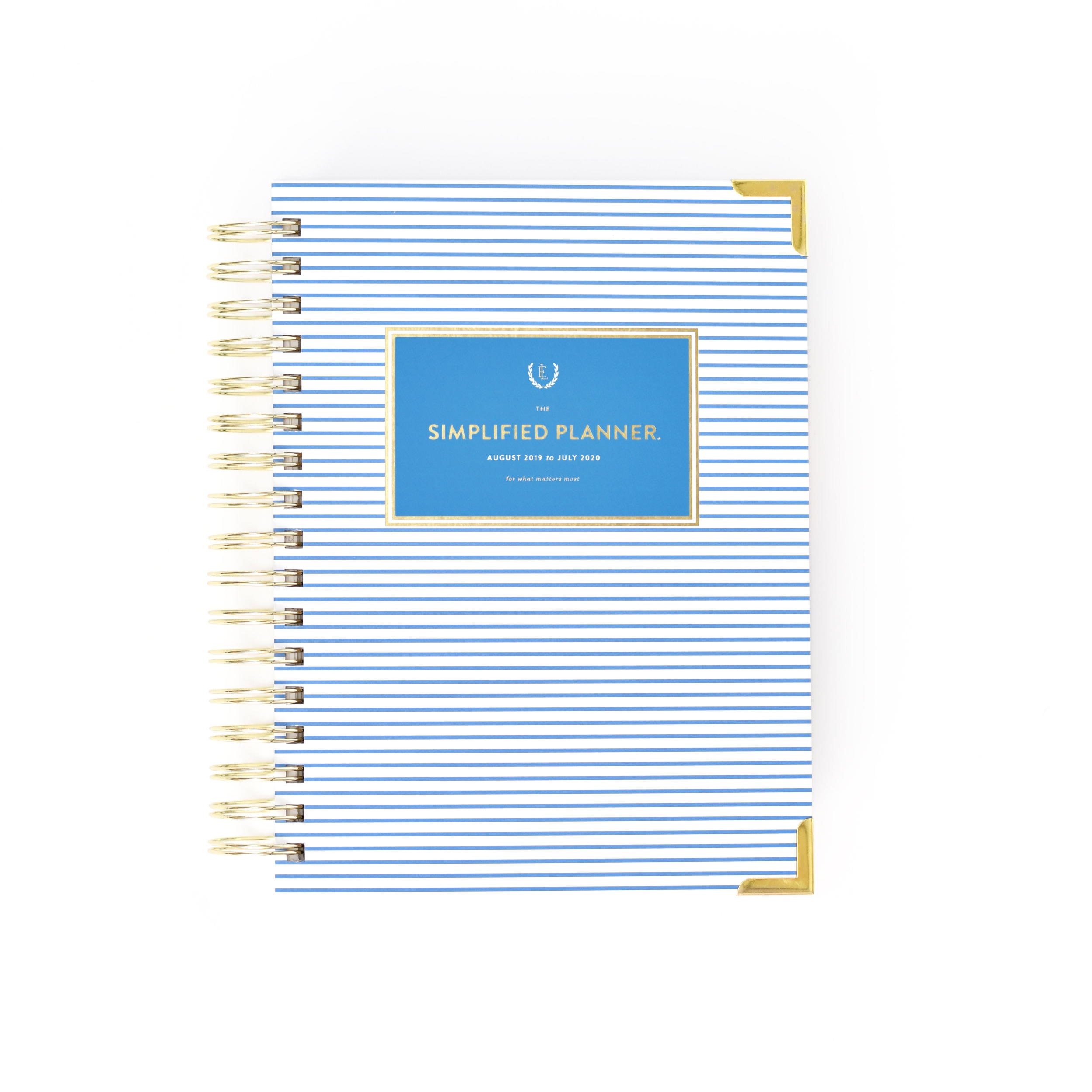 Blue Pinstripe Daily Simplified Planner | $58 -