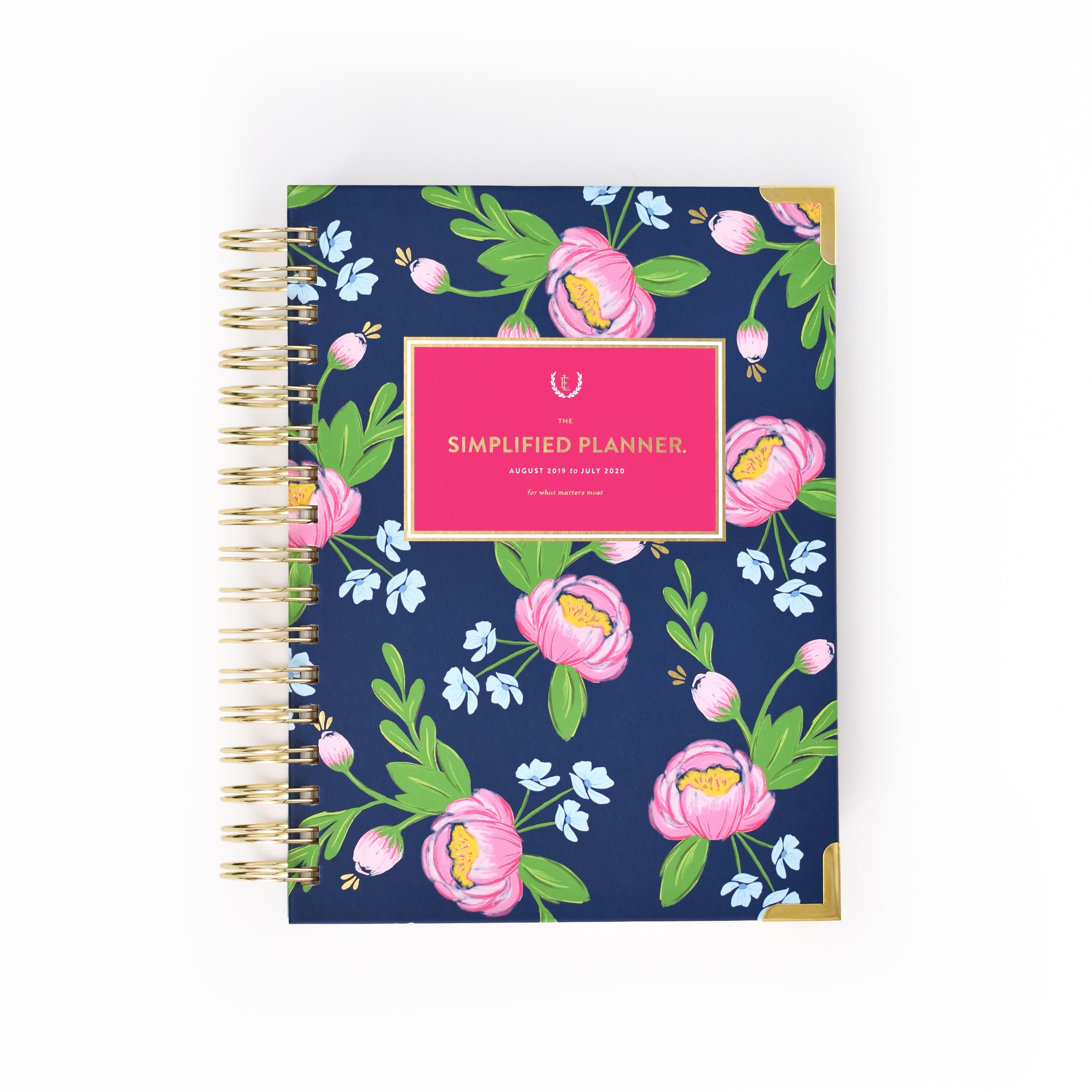 Navy Blooms Daily Simplified Planner | $58 -