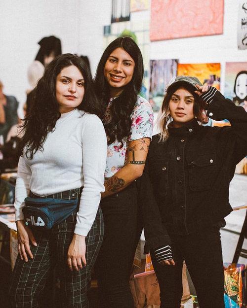 Left to right:  Trippylandia, Karen Elisa & Jennifer Medrano.
