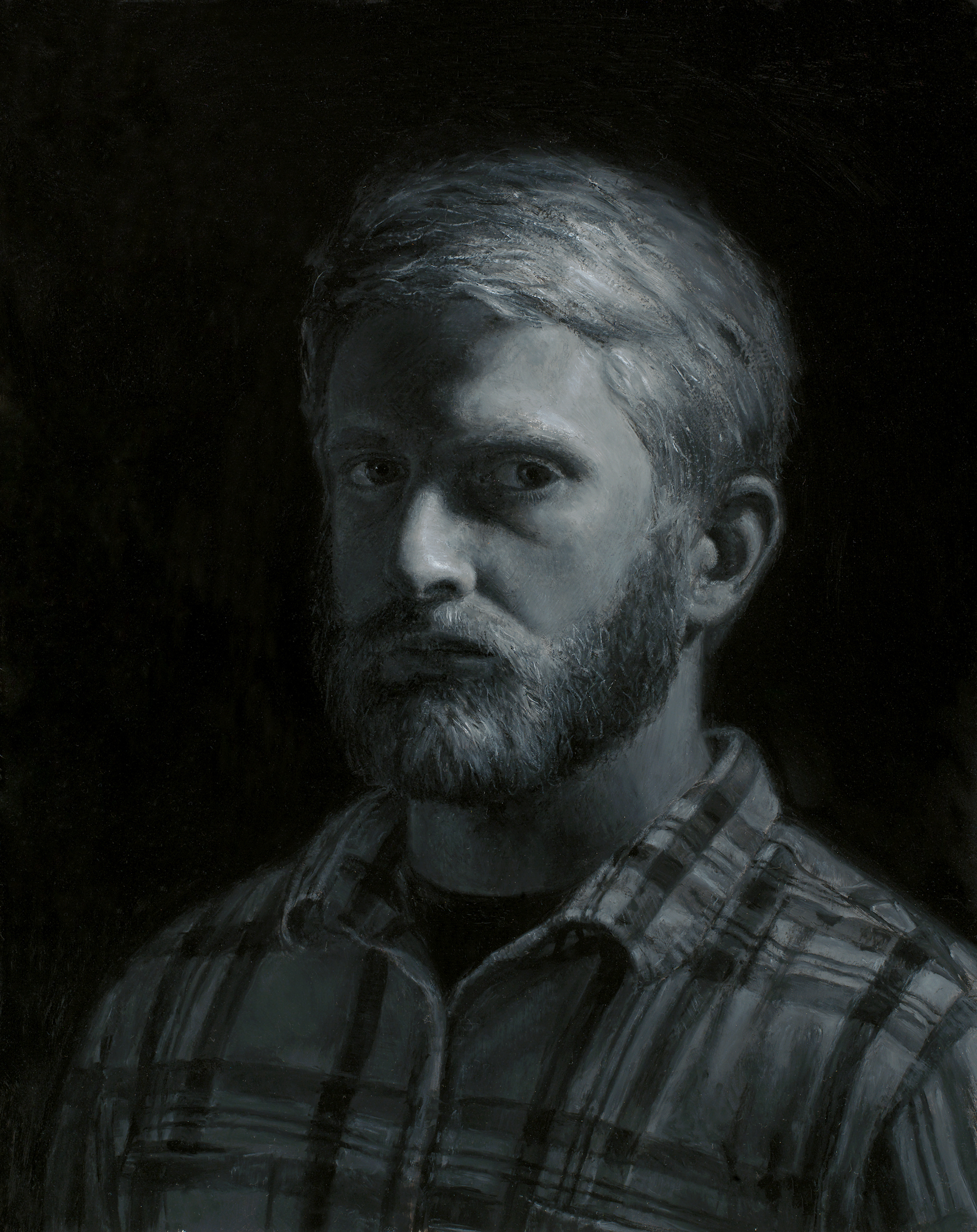 'Self Portrait'  12''x12''  Oil on panel  2014