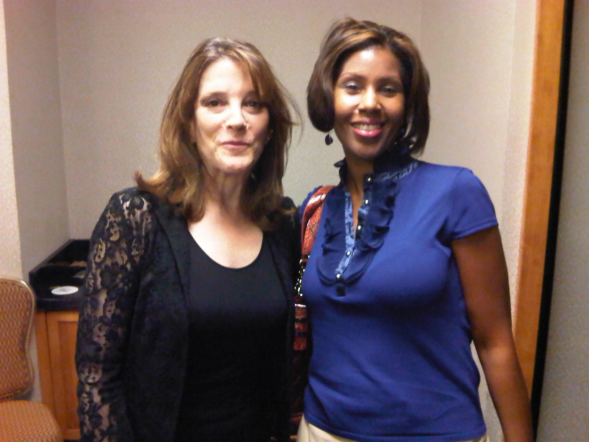 Thrilled to meet Marianne Williamson