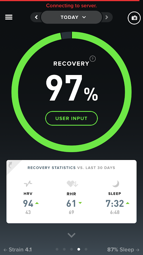 Whoop Recovery Overview