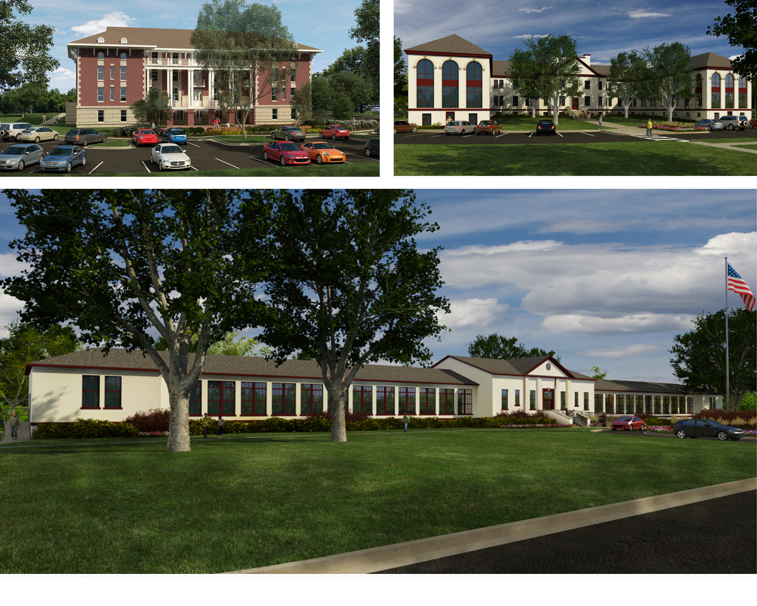 Renderings of Freedom's Path at Augusta   Gruber & Associates Architects, LLC