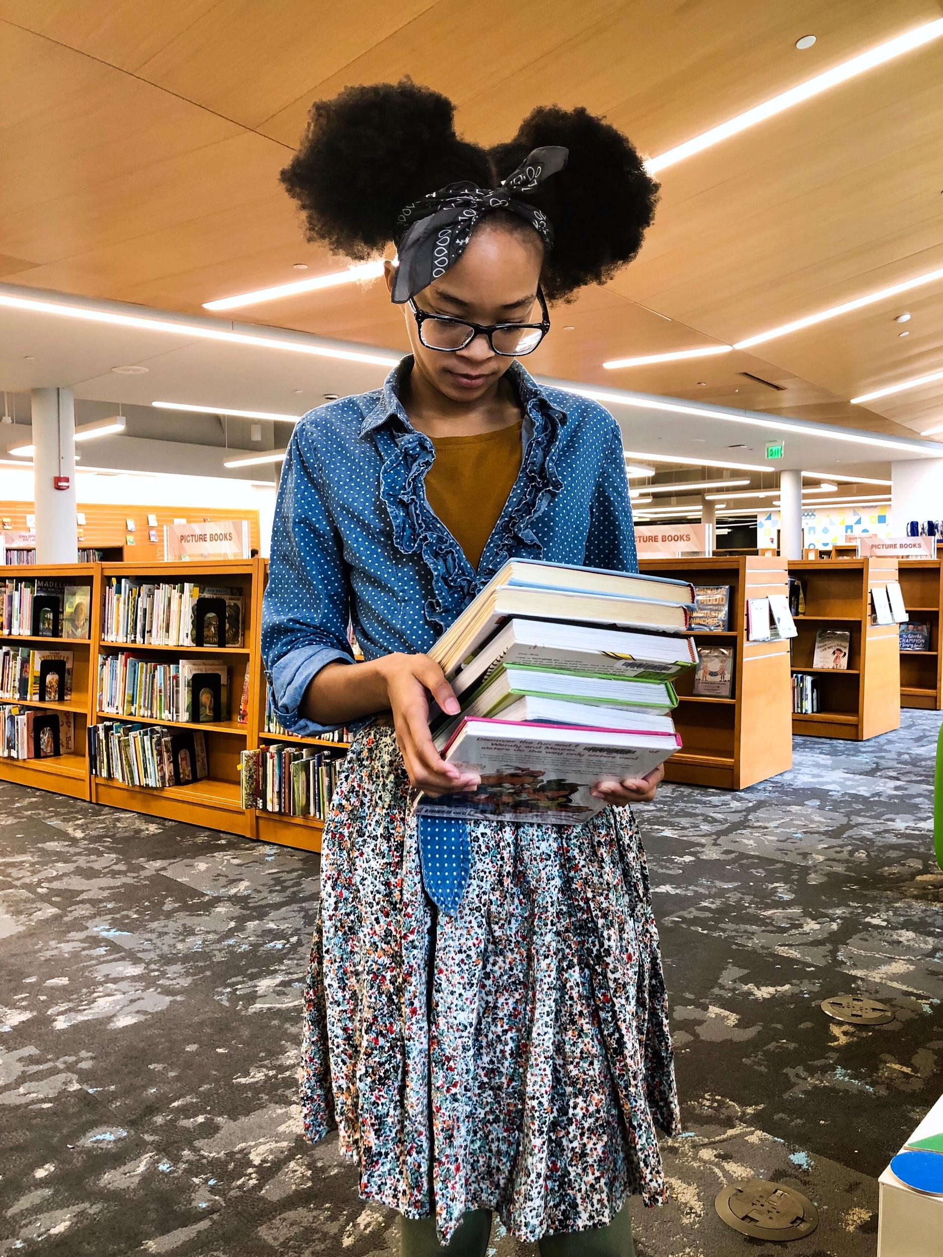 Library Haul - The Mahogany Way