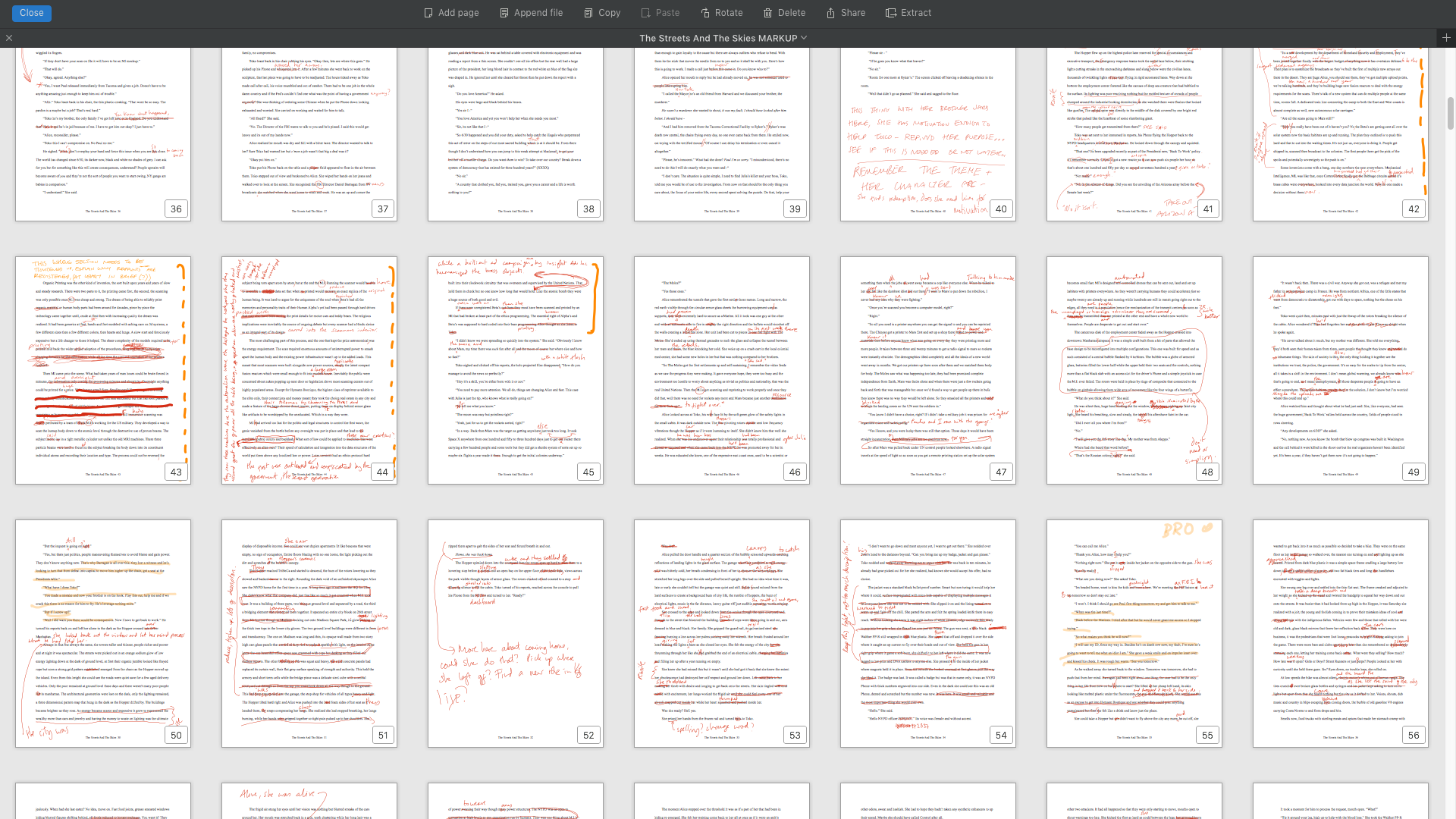 See what I have to go through? Read, red mark, revise, repeat ...