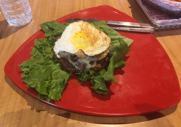 No bun, Put an Egg on It, with mushrooms.