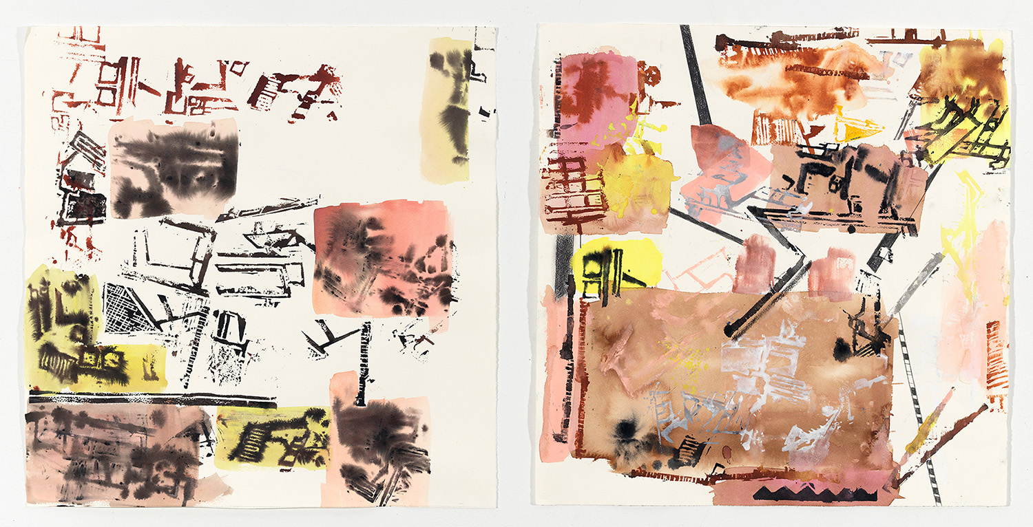 Untitled (Diptych drawings)