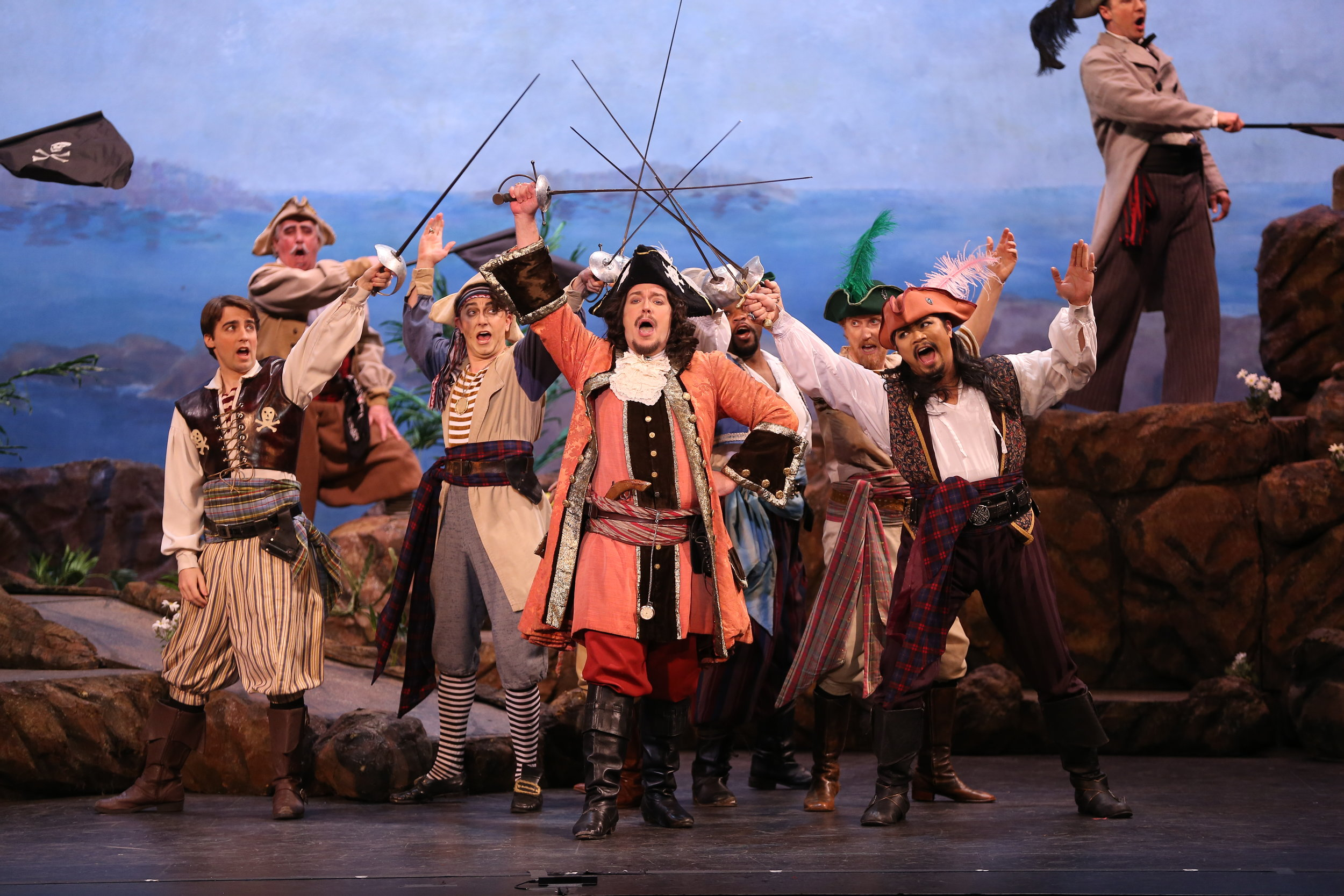 For I am a Pirate King  - Matthew Wages and Ensemble ( photo by Carol Rosegg )