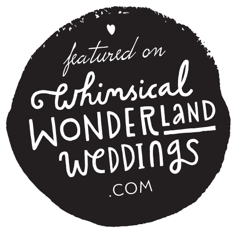 featured on whimsicalwonderlandweddings.com