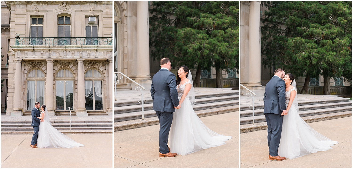 new jersey outdoor wedding, Monmouth University Wilson Hall, natural light photographer, film photographer
