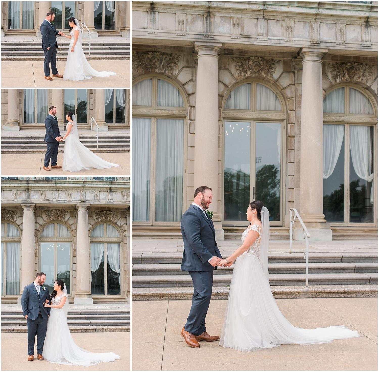 new jersey outdoor wedding, Monmouth University Wilson Hall, natural light photographer, film photographer
