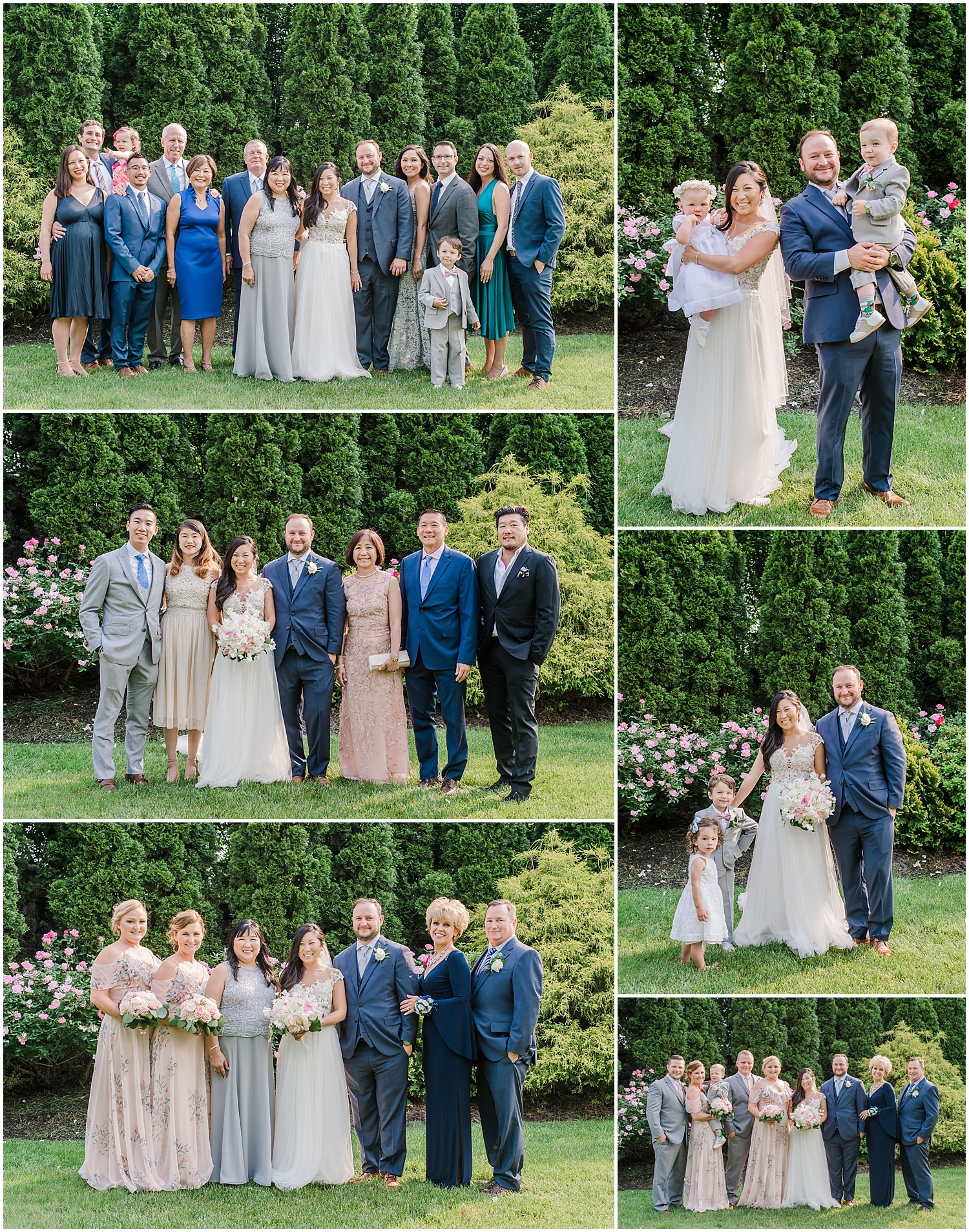 new jersey outdoor wedding, Monmouth University Wilson Hall, natural light photographer, family formals