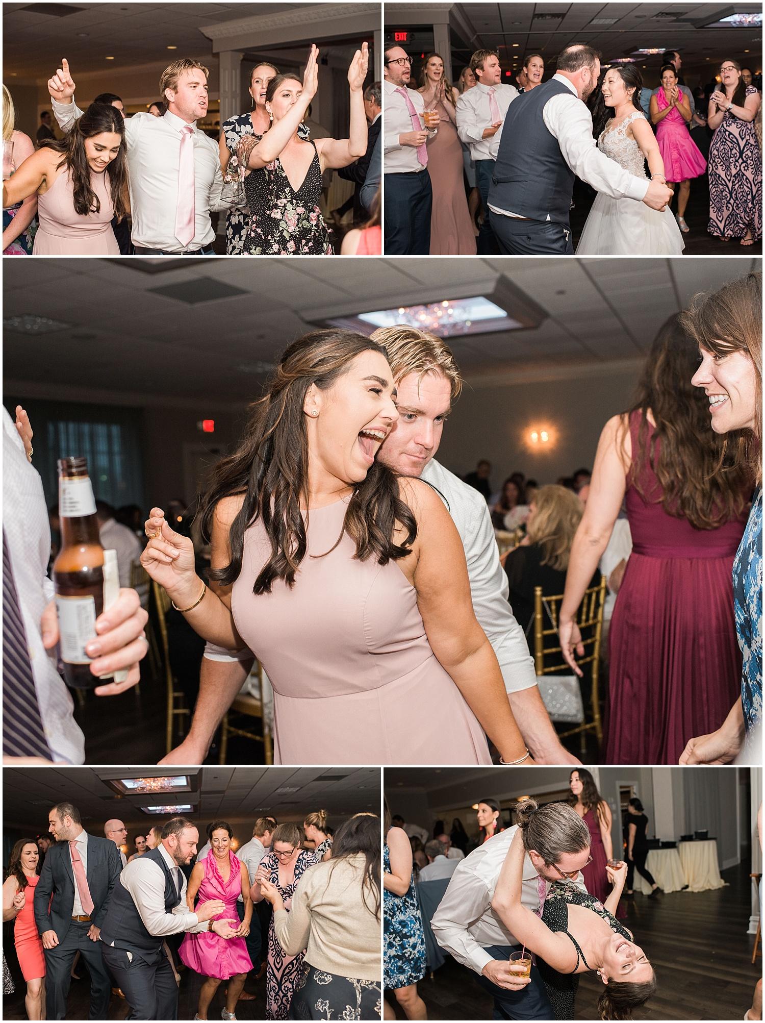 new jersey outdoor wedding, Monmouth University Wilson Hall, natural light photographer, hybrid photographer, reception dancing
