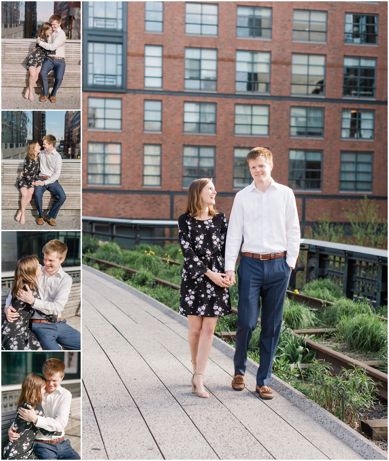 new york city_high line_engagement photography session